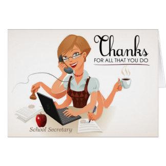 School Secretary Appreciation Card
