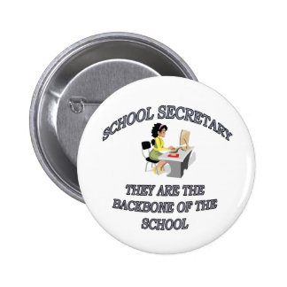 SCHOOL SECRETARY PINBACK BUTTONS