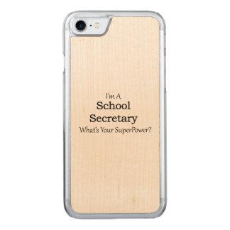 School Secretary Carved iPhone 7 Case