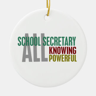 School Secretary Ceramic Ornament