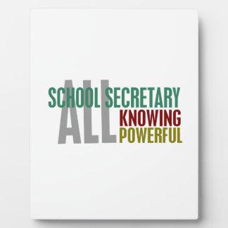 School Secretary Display Plaques