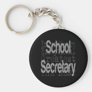 School Secretary Extraordinaire Basic Round Button Keychain