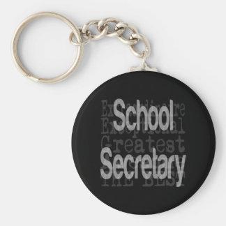 School Secretary Extraordinaire Basic Round Button Keychain