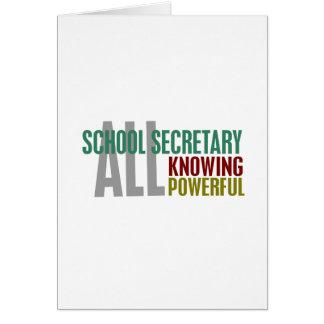 School Secretary Greeting Card