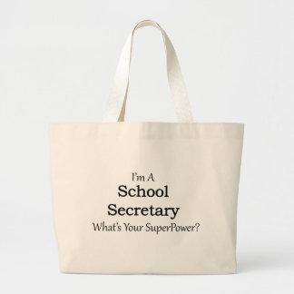 School Secretary Large Tote Bag