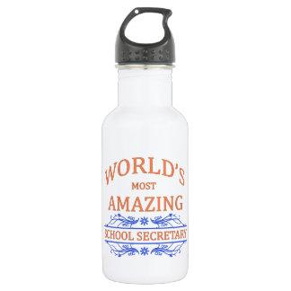 School Secretary 18oz Water Bottle