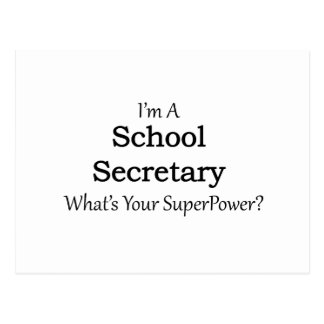School Secretary Postcard