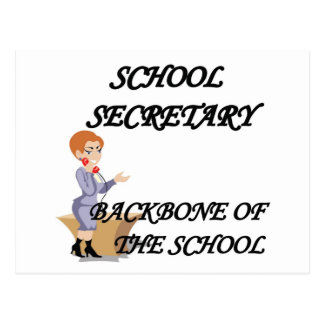 SCHOOL SECRETARY POSTCARD