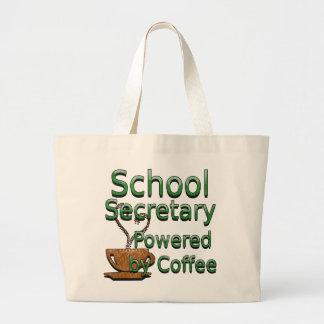 School Secretary Powered by Coffee Jumbo Tote Bag