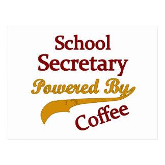 School Secretary Powered By Coffee Postcard