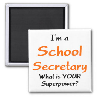 School secretary square magnet