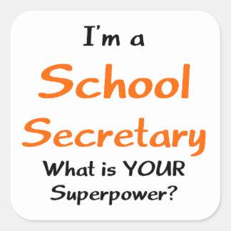 School secretary square sticker