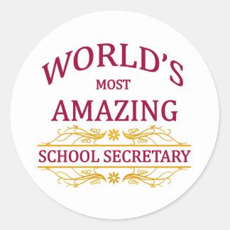 School Secretary Stickers