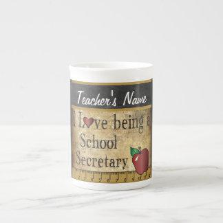 School Secretary Vintage Unique Style Bone China Mug
