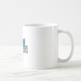 School Secretary with Blue and Gray Print Classic White Coffee Mug