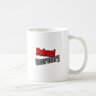 School Secretary with Red and Gray Print Coffee Mug