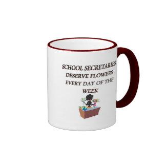 SCHOOL SECRETARYDESERVE FLOWERS COFFEE MUG