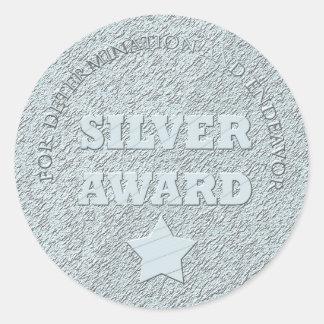 School Silver Award Motivational Round Sticker