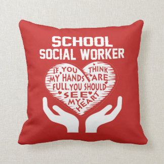 School Social Worker Throw Pillow