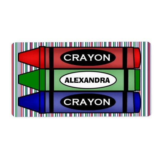 School Supply Labels with name