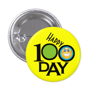 School Teacher 100 Day Button - SRF
