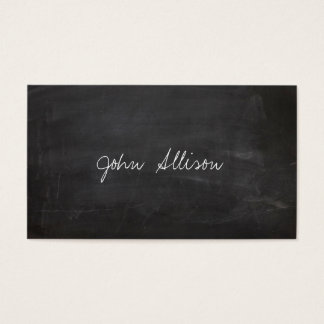 School Teacher Chalkboard Educational Business Card