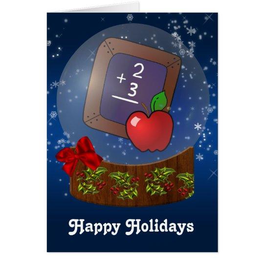 school teacher Christmas Cards