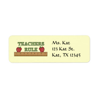 School Teachers Return Address Labels