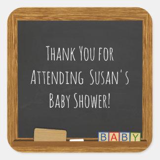 School Theme Baby Shower Thank You Sticker