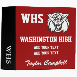 School Wildcat Binder - SRF