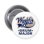 School Worlds Best Drum Major Gift Pins