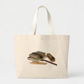 SchoolBooksPencils071709 Large Tote Bag