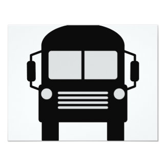 "schoolbus icon 4.25"" x 5.5"" invitation card"