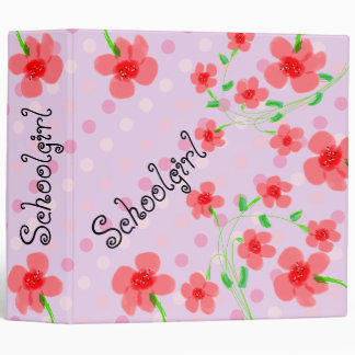 Schoolgirl Pink Polka-dot Binder