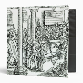 Schoolroom scene in Tudor times 3 Ring Binder