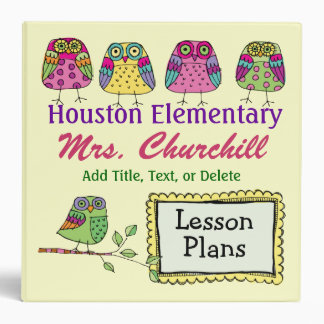 School's a Hoot -  OWL 3 Ring Binder