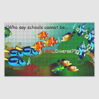 Schools Are Diverse Sticker