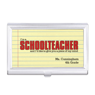 Schoolteacher Case for Custom Business Cards Business Card Cases