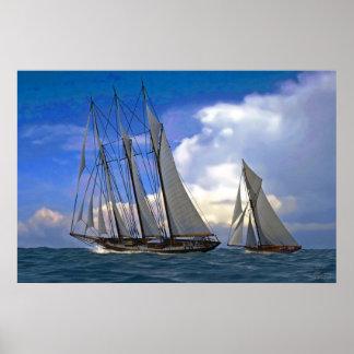 schooner and yacht poster