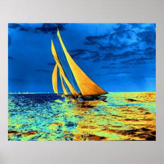 Schooner Ariel's Golden Sails 1899 Poster
