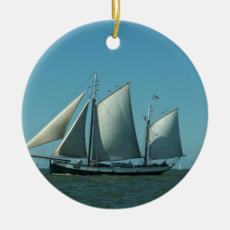 Schooner at Sea Ceramic Ornament