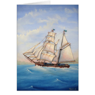 Schooner Father's Day Card