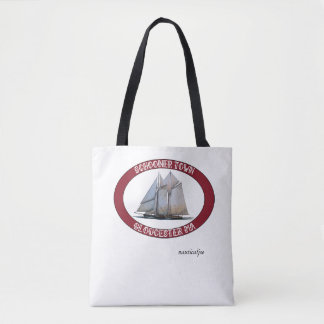 schooner nautical tote bag