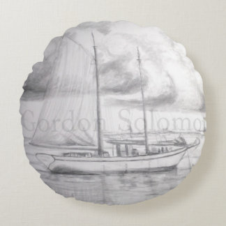 Schooner Round Pillow