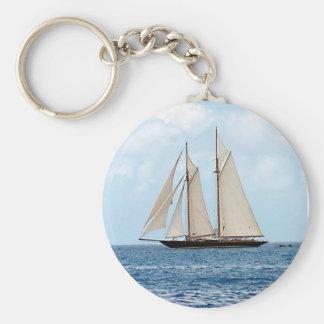 Schooner Sailboat in the BVI Keychain