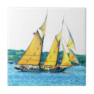 schooner sailing tile
