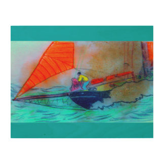 schooner sailing wood canvas