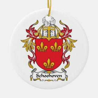Schoonhoven Family Crest Ceramic Ornament