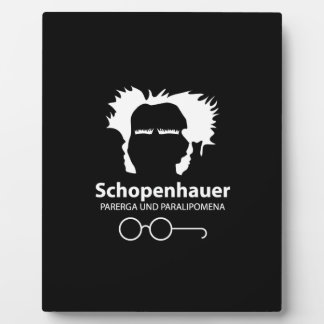 Schopenhauer Parerga Confidence ED. Plaque
