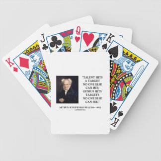 Schopenhauer Talent Genius Hits Targets No One See Bicycle Playing Cards
